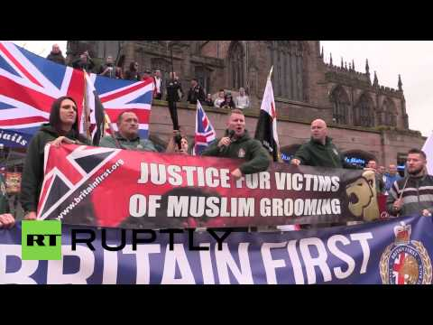 """UK: Watch hundreds protest """"Muslim grooming gangs"""" in Yorkshire"""