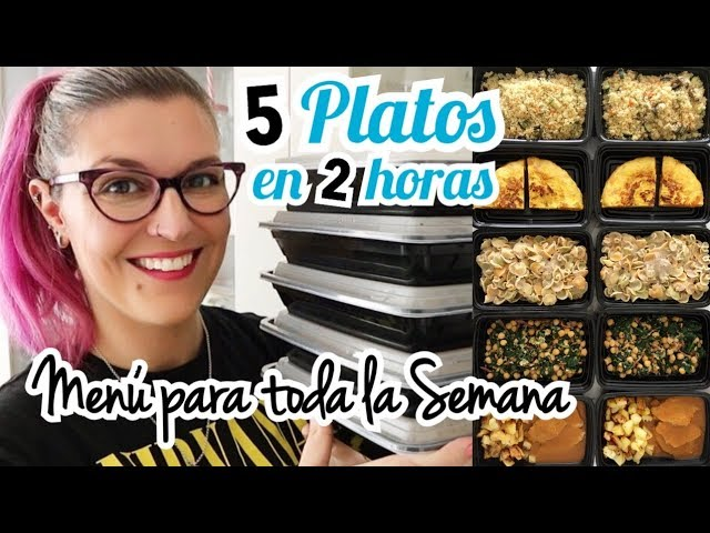 MEAL PREP para toda la semana *BATCH COOKING* 5 Platos en 2 Horas