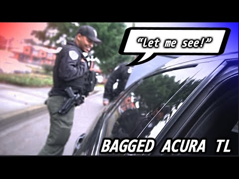 They Really Pulled Me Over For This... (Bagged Acura TL Type S)