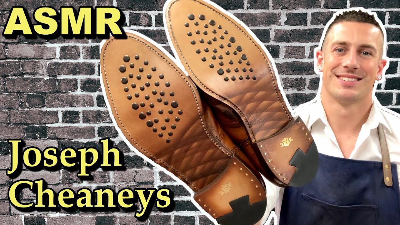 ASMR SHOE REPAIR | CHEANEY SHOES | Amazing Hybrid Leather Sole | Relaxing Rainy Day ASMR