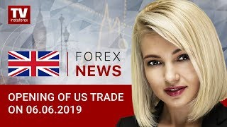 InstaForex tv news: 06.06.2019: Sentiment on USD unaffected by EUR's spike (EUR, USD, CAD)