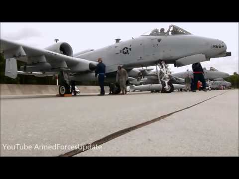 US Air Force A 10 Ground Attack Aircraft arrive in Poland 720p - WORLDS MOST POWERFUL