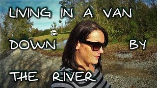 LIVIN' IN A VAN, DOWN BY THE RIVER! =) A visit to Russell Cave Nat'...