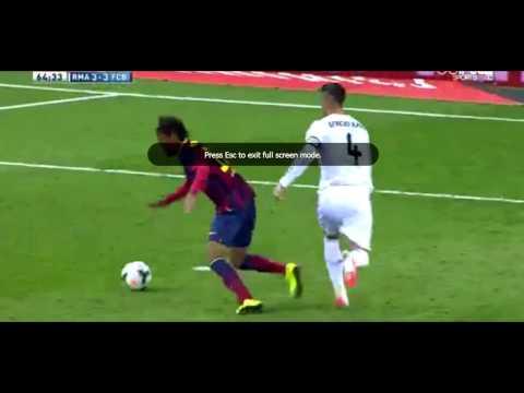 Neymar dives against Real Madrid - Sergio Ramos RED CARD (El Clasico 23 March)