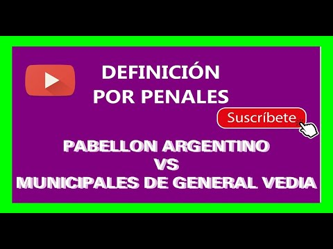 DEFINICIÓN POR PENALES PABELLÓN ARGENTINO- MUNICIPALES DE GENERAL VEDIA 28/05/2016