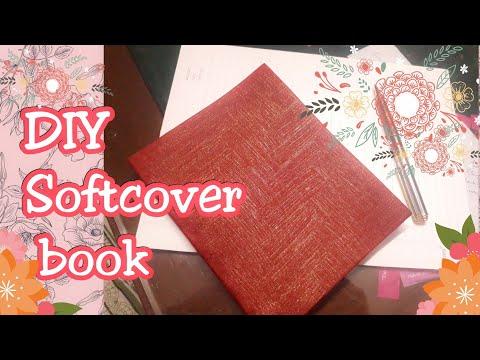 DIY Book binding: handmade softcover book from scratch.