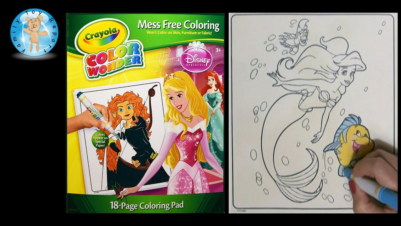 crayola color wonder disney princess coloring book the little