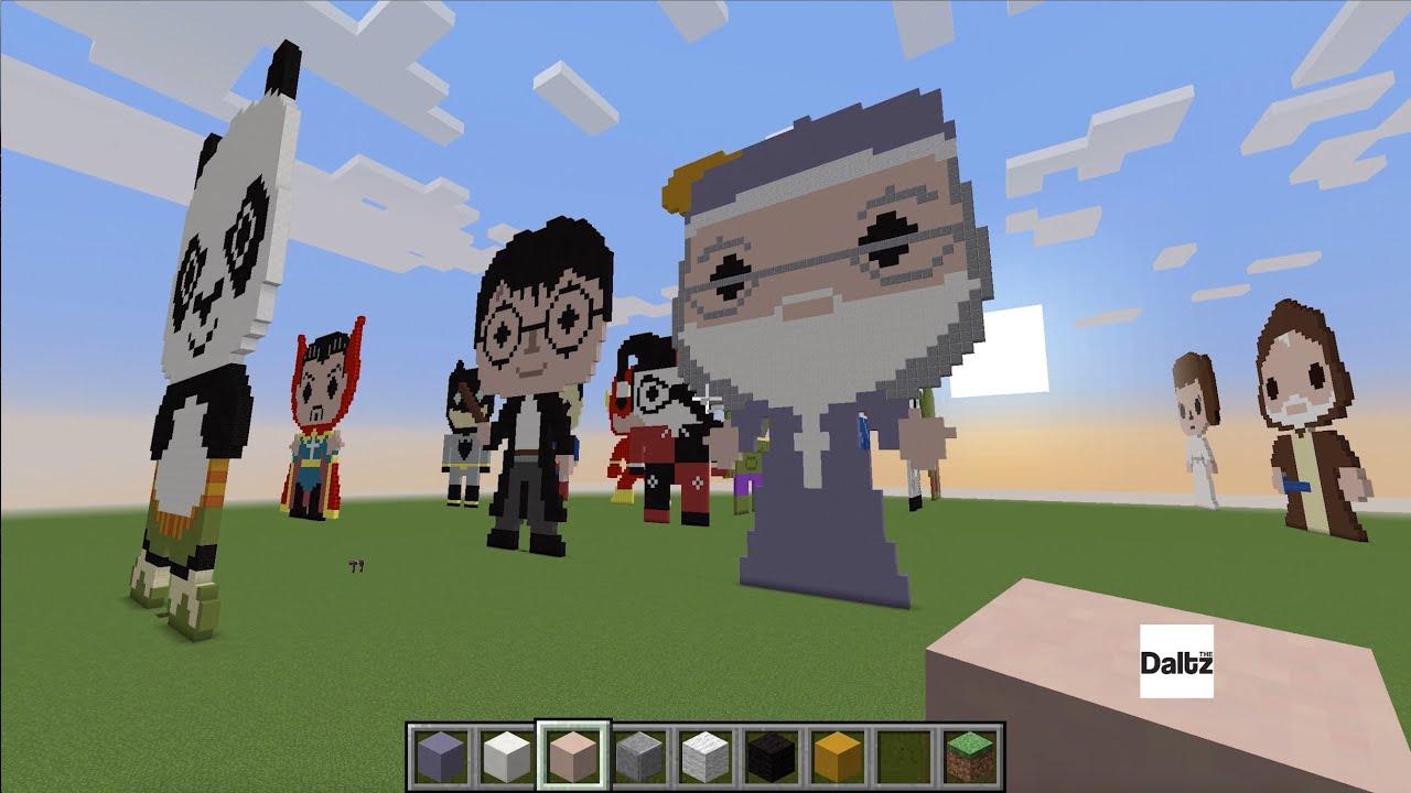Perfect Minecraft Pixel Art   Dumbledore   YouTube