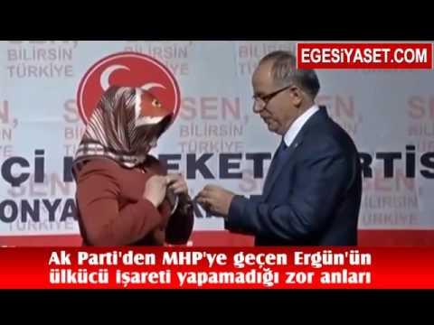 AK Parti'den MHP'ye Geçen Özgür Ergun'un, Ülkücü İşareti Yapamadığı Zor Anları