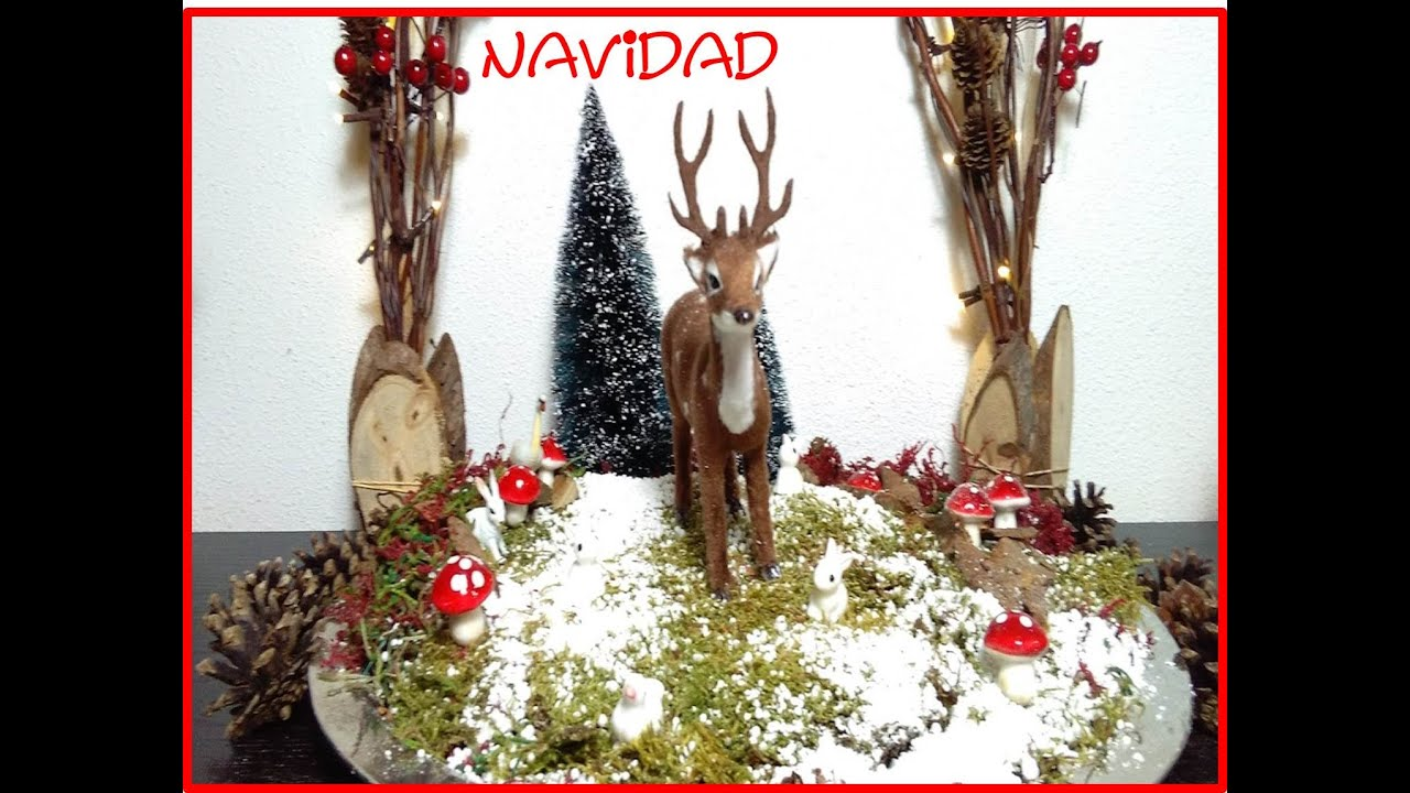 D i y ideas mini jardin navide o para decorar tu casa for Ideas para adornar puertas en navidad