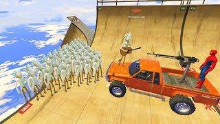 GTA 5 Crazy SPIDERMAN VS Rick Sanchez Ragdolls(Euphoria Physics, Ragdolls, Fails, Funny Moments)