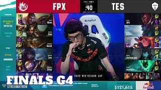 FunPlus Phoenix vs Top Esports - Game 4 | Finals 2020 LoL Mid Season Cup | FPX vs TES G4