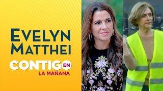Reacción de Monserrat Álvarez tras corrida de Evelyn Matthei - Contigo en La Mañana