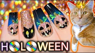 HOLOWEEN Nail Art Pumpkins + Kitty Porn ft. Zyler
