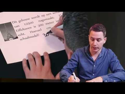 Meneermegens Rekenuitleg Over Rekenen Met Schaal Youtube