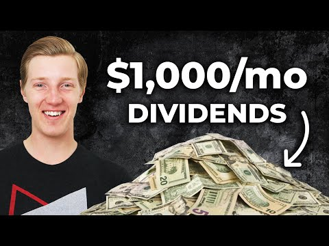 $1000 per month from DIVIDEND stocks? (Passive income from investing)