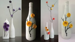 Best out of waste craft ideas   DIY Home Decor Ideas   bottle craft ideas   Decorated Wine Bottle