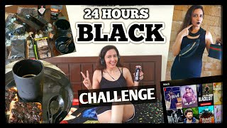 I Used Only BLACK Colour For 24 Hours Challenge 🖤💣 Garima's Good Life