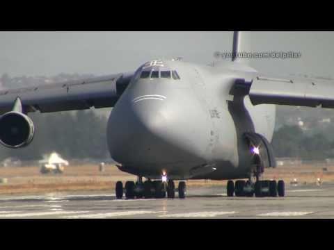 USAF C-5 Galaxy up close takeoff at Abbotsford