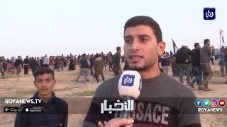 الاحتلالُ يقمعُ المتظاهرينَ الفلسطينيين المشاركين في مسيرةِ العودة شرقَ غزة - (30-11-2018)