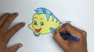 How to Draw a Cute Flounder Step by Step