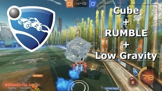 Rocket League - CUBE + RUMBLE + LOW GRAVITY - PC Gameplay ESP