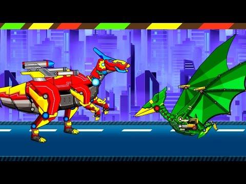 Parasaurolophus VS Pterosaurs - Ankylosaurus - T-Rex - Brachiosaurus - Triceratops - Spinnosaurus