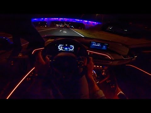 2019 BMW i8 Roadster | POV NIGHT DRIVE | Ambient Lighting by AutoTopNL