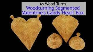 Woodturning Segmented Valentine's Candy Heart Box