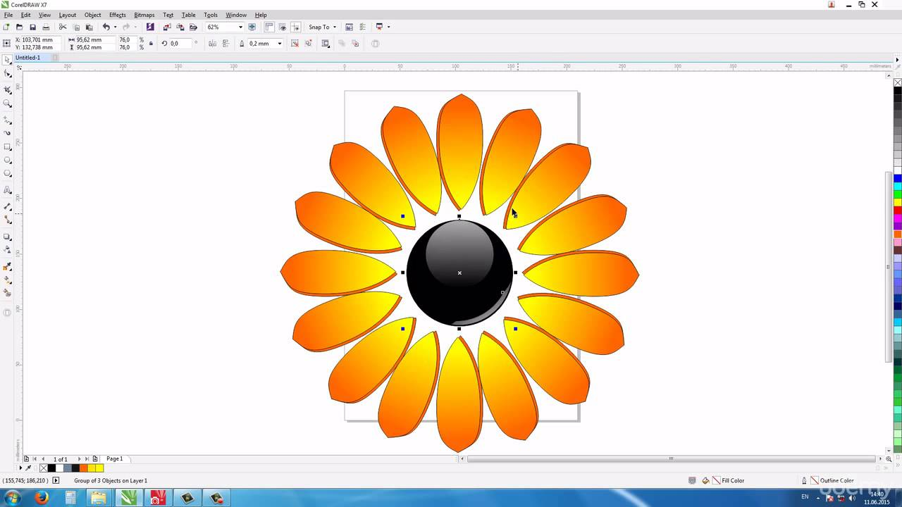 how to draw learn how to draw flowers in corel draw drawing