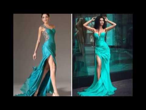 Бирюзовое платье – самые красивые наряды на любую фигуру
