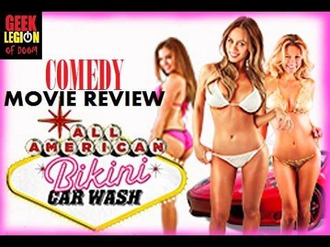 ALL AMERICAN BIKINI CAR WASH ( 2015 Mindy Robinson, Scarlet Red) Comedy Movie Review