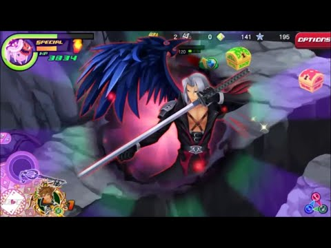 Kingdom Hearts Unchained X: Lvl 100 Sephiroth In Action