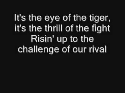 Eye Of The Tiger - Lyrics