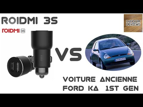 Roidmi 3S Test Ford Ka - Ancienne Voiture - Transmetteur FM Bluetooth Allume Cigare
