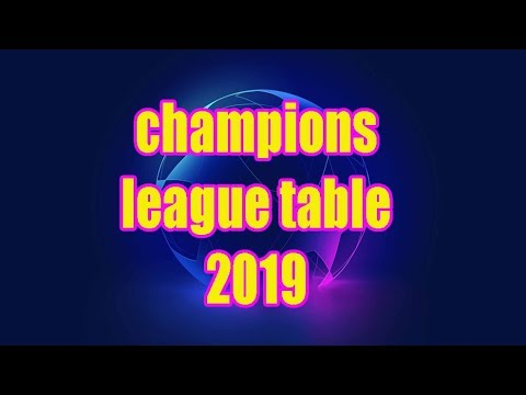 champions league table 2019 ●round of 16●