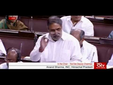 Anand Sharma speech in Rajya Sabha, 4 May, 2016