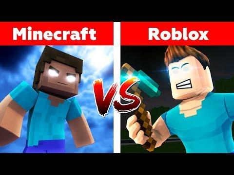 MINECRAFT VS ROBLOX! Herobrine's War | Minecraft or roblox animation