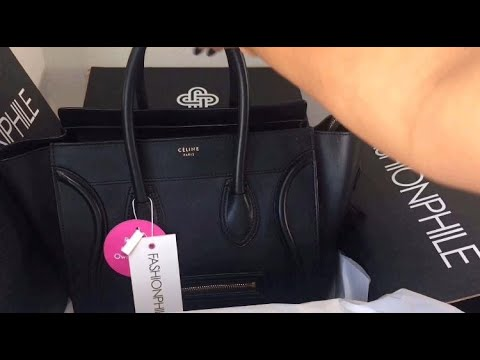 Celine Smooth Calfskin Mini Luggage | FASHIONPHILE Unboxing