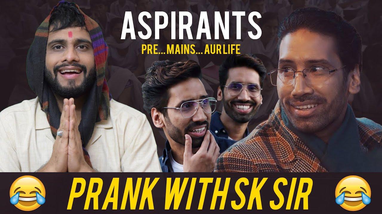 Prank With SK Sir   Aspirants   Abhilash Thapliyal
