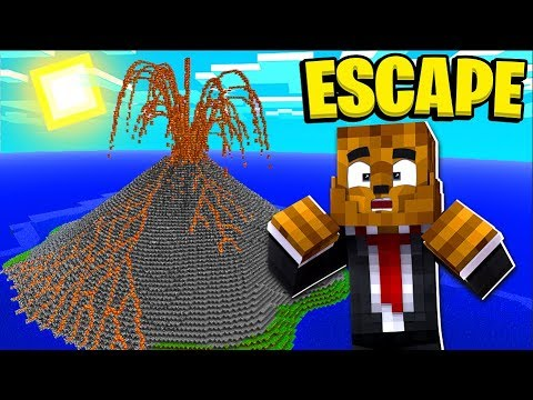 ESCAPING AN ACTIVE VOLCANO IN MINECRAFT! - MINECRAFT MODDED MINIGAME thumbnail