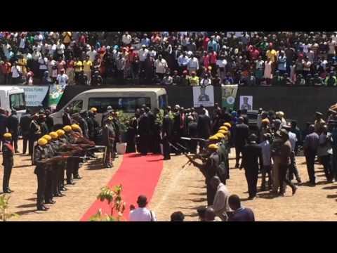 President Mugabe Attends Burial of Brigadier General James Jotham Murozvi