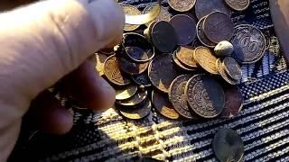 цыганское золото кольца и куча монет