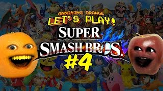 Super Smash Bros #4: Annoying Orange vs Midget Apple - PikAH-CHOO!