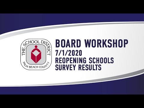 7.1.2020 SDPBC Board Workshop Re: Opening Of School