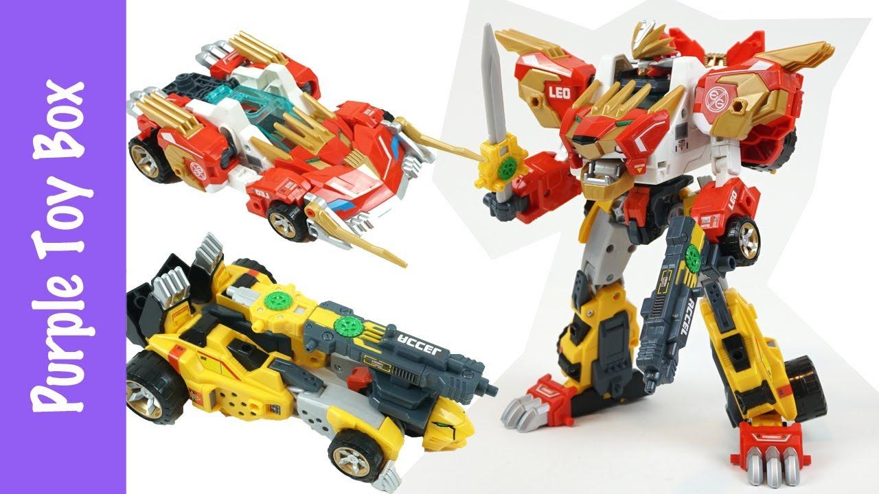 Lion + Cheetah Combination Transformer Tomica 엔진봇 레오 치타