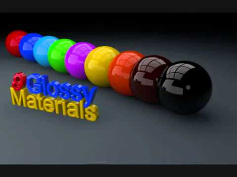 9 Glossy Material Pack For Cinema 4D R12 ALL FREE!!