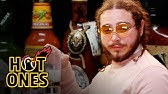 Post Malone Sauces on Everyone While Eating Spicy WingsHot Ones
