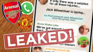 Manchester United V ARSENAL: Gunners Group Chat Revealed