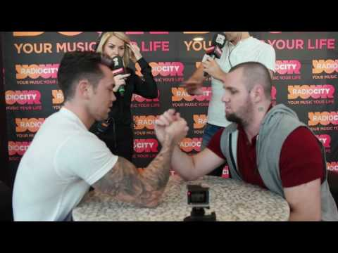 Ray Quinn v Terry Smith arm wrestle